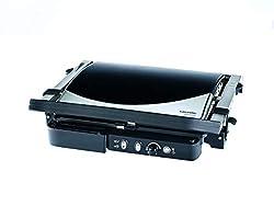 Grundig CG 5040 Premium-Kontaktgrill (2000 Watt), schwarz-silber