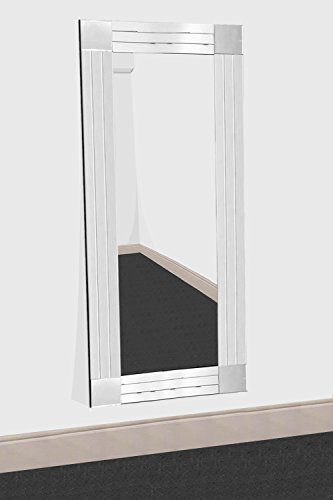 2-licht Abgeschrägten Glas (Silber Triple abgeschrägten Venezianischer Wandspiegel 3silberfarben x 281cm (120x 80cm))