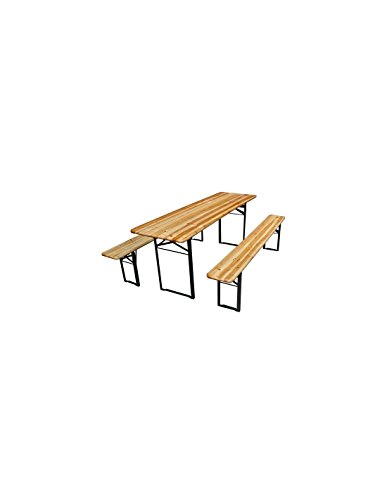 Perel TABLE - AVEC 2 BANCS - 200 x 60 x 76 cm