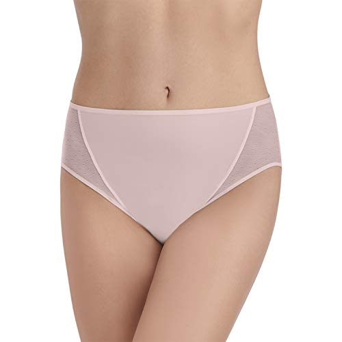 Vanity Fair Damen Breathable Luxe Hi Cut Panty 13181 Unterhose, Sheer Quartz, Large -