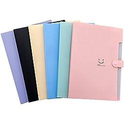 Shuny Trieur Valisette, Trieur Extensible 5 Compartiments A4 Papier Classeur Documents de Fichiers Organisateur Document pour Bureau Maison Ecole, 6 pièces