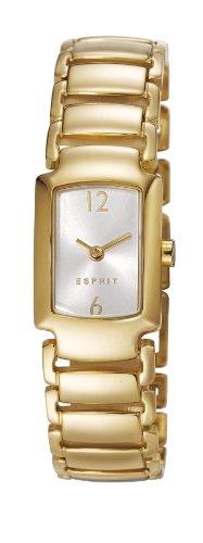 Esprit ES106642002 - Reloj analógico de cuarzo para mujer, correa de acero inoxidable chapado color dorado