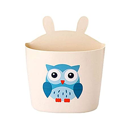 Cute Owl Bedside Storage Bag Ni os Multifuncional Bolsa de Almacenamiento de Pa ales Lavable Cama Colgante Cesta