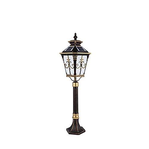Europäische Victoria LED Pfosten Pole-Lampe Solar Energy Glas Laterne Straße Wasserdichte Außen Säule Lampe Höhe 0,92 M Säule Licht -