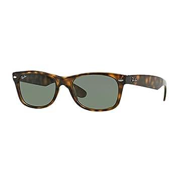 Ray Ban Unisex Sonnenbrille RB2132, Gr. Large (Herstellergröße: 55), Braun (Gestell: havana, Gläser: grün 902L)