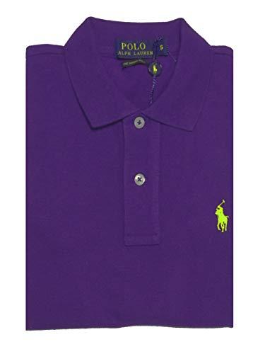 Ralph Lauren - Damen Polo Shirt - Skinny Polo - Lila - Purple - Gr.S