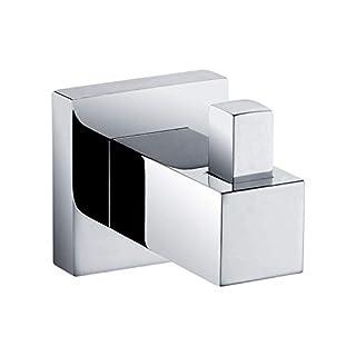 morethanart Design Handtuchhaken/Handtuchhalter quadratisch eckig, sehr sehr edel Vollmetall verchromt mit Befestigungssatz