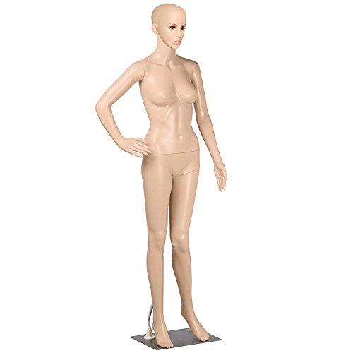 Yahee Schaufensterpuppe Weiblich Mannequin Ganzkörper, zerlegbar Drehbar beweglich (Nähen Mit Der Wimper)