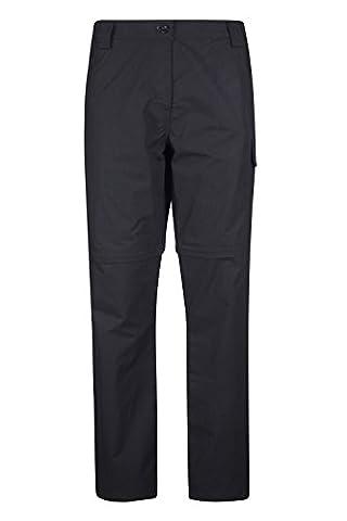 Mountain Warehouse Pantalon transformable pour femmes Trek Noir 34