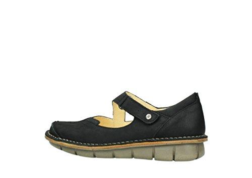 Wolky Comfort Chaussures à bride Cordoba 10070 nubuck noir