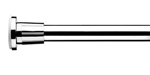 Croydex, asta telescopica per tende doccia, estensibile da 110 cm a 260 cm, color argento