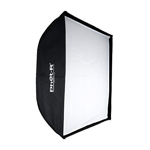 Phot-R Professionelle 30 x 120cm faltbar Strip Softbox mit Bowens Mk.VI Speedring & Wabenraster zu Foto Studio Lighting Flash + Chamois Tuch Strip Light Softbox
