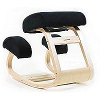 Sleekform Silla ergonómica para arrodillarse Silla para yoga Postura correctora de madera para oficina y hogar