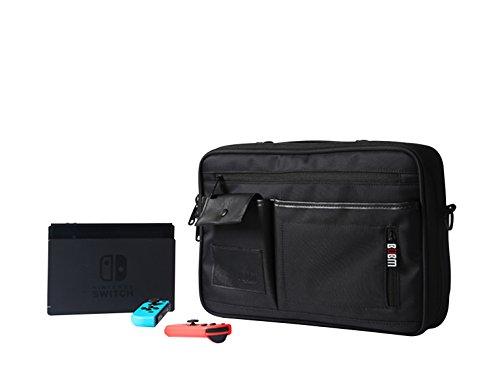 BUBM organizadores de viajes de gran alcance para la consola Nintendo Switch Joy-con y otros todos los accesorios - negro (grande)