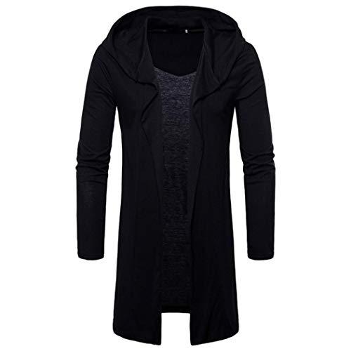 Linlink Mode Herren Kapuzen Mit Massivem Grabenmantel Jacke Cardigan Lang Ärmel Oberbekleidung Camo Thermal Sweatshirt