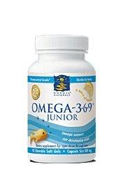 Omega-3-6-9 Junior - Lemon Flavour - 90 Chewable Soft Gels