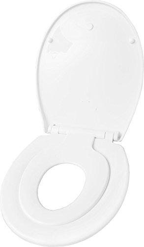 Cornat WC-Sitz FAMILY NEO weiß / Toilettensitz / Toilettendeckel / Klodeckel / WC-Deckel / Kinder WC-Sitz / Absenkautomatik / Duroplast / KSFAMN00