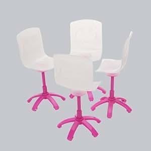 sharplace 4pcs miniatur esszimmersthle stuhl puppenmbel fr barbie puppehaus esszimmer zubehr - Esszimmer Zubehor