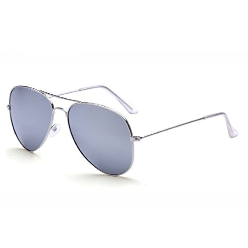 O-C - Gafas de sol - para mujer white frame white silver