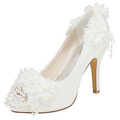 Wuyulunbi@ Scarpe donna raso elasticizzato Primavera Estate della pompa base scarpe matrimonio Stiletto Heel Un