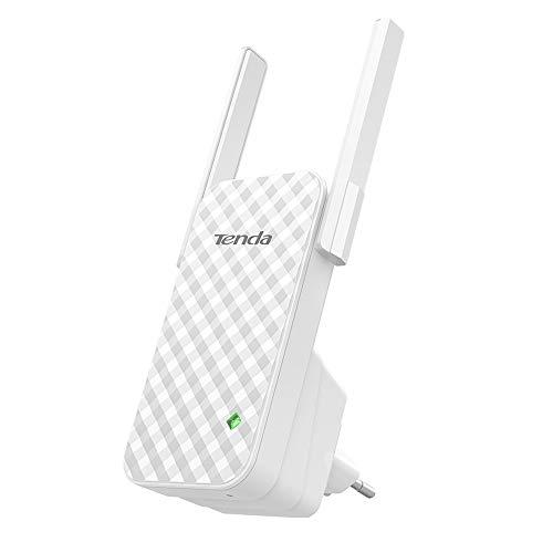 Tenda A9 N300 Repetidor de red Wifi Extensor Amplificador de Cobertura (300Mbps, 2 Antenas externas, Red Cobertura WiFi inalambrico más de 200 Metros, Compatible con los Routers y ADSL/Fibra)