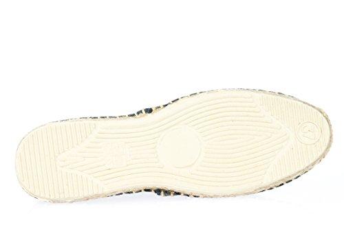 Espadrilles de plage/chaussons Blanc - Bleu foncé