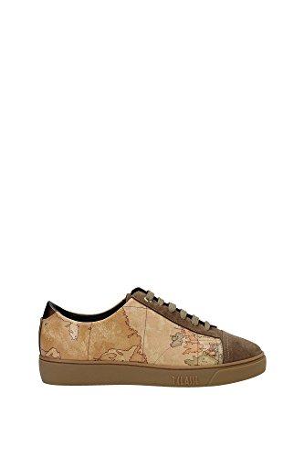 1 CLASSE ALVIERO MARTINI sneakers donna marrone beige pelle camoscio AF219 (37 EU)