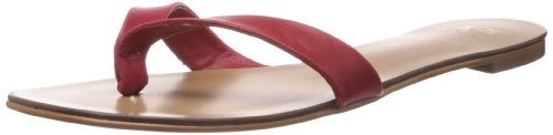 Saint.g Women's Denise Red Leather Slippers