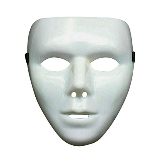 Scary Horror Kostüm - Riou Halloween Maske Kostüm Creepy Mask Horror Maske Scary Maske Gesichtsmaske Halbmaske Party Cosplay Kostüm für Fasching,Karneval & Halloween Kostüm (Weiß B)