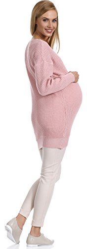 Be Mammy Damen Umstandspullover Roxy Puderrosa