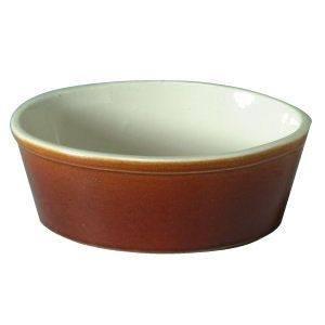 Rayware 18 cm Harvest Oval Pie Dish, Burgundy / Cream