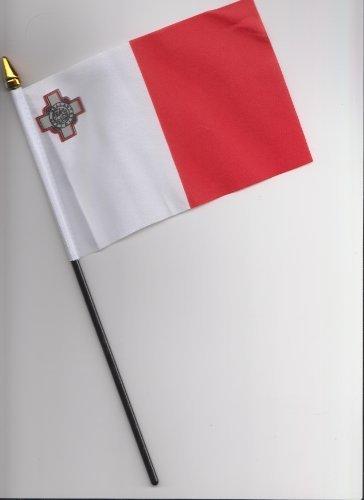 Malte Drapeau à main 25 cm