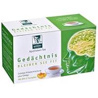 BADERs Apotheken Tee Gedächtnis aus der Apotheke. Grüner Tee, Grüntee-Extrakt, Vitalstoff Epigallocatechingallat,Ginkgo. 20 Btl, 40. PZN 01179490