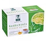 BADERs Apotheken Tee Gedächtnis. Bleiben Sie fit. Grüner Tee, Grüntee-Extrakt, Vitalstoff Epigallocatechingallat, Melisse, Ginkgo, Rosmarin. Pharmazentralnummer: 01179490