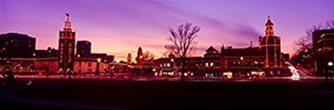 Panoramic Images – Buildings in a city Country Club Plaza Kansas City Jackson County Missouri USA Photo Print (45,72 x 15,24 (Kansas City Country Club)