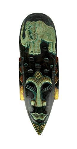 Things2Die4 - Máscara de Pared (Madera Tallada a Mano), diseño de Elefante