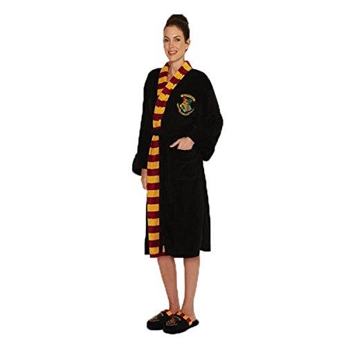 Ladies Officielle Harry Potter Hogwarts Crest Adulte Noir Robe de chambre Peignoir