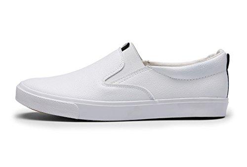 Baskets De Sport Pour Hommes Basses Plate Marche Skateboard Sneakers Chaussures Blanc