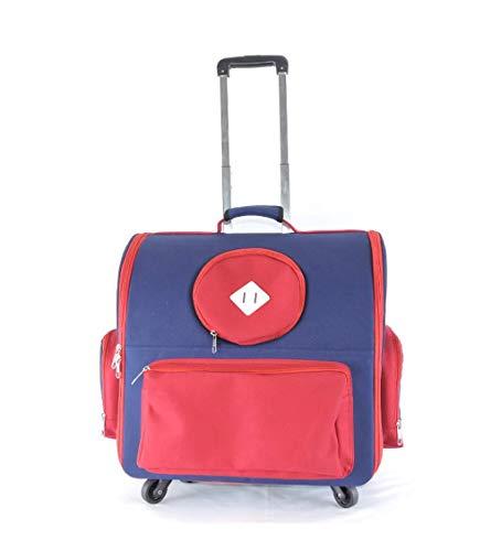 LXYUCWB Outdoor Haustier Tasche Haustier Trolley Hund Käfig Katze Käfig Falttasche rot blau