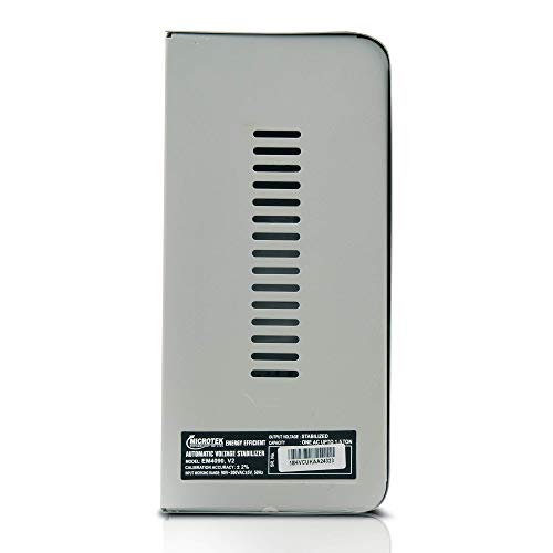 Microtek EM4090 Automatic Voltage Stabilizer for AC up to 1.5 ton (90V-300V), Metallic Grey - Digital Display, Wall Mounted