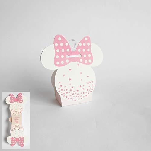 Bomboniera scatola per confetti minnie disney rosa set 20 pz art 68068