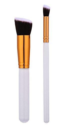 Vi.yo 2 Pcs oblique pinceau de maquillage tête ensemble blush fard à paupières brosses ensemble d'outils pour le visage et les yeux (style 4)