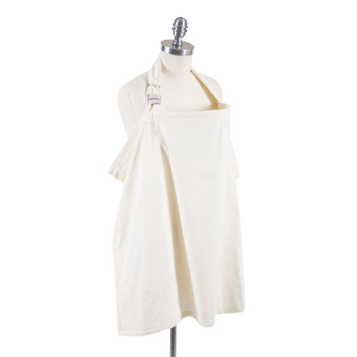 Bebeaulait Nursing Covers : CBETI Stillcape, ivory eyelet