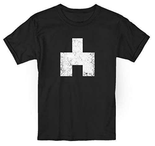 LaMAGLIERIA Camiseta niño Black Mirror Bandersnatch White Bear Symbol Cod Bm03 - t-Shirt 100% algodón, 9-11 años, Negro