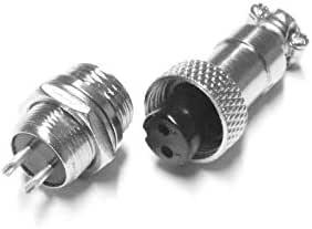 5-pol. mit Schraubverschluss und Schutzkappe Ø 20 mm Einbaustecker-Set