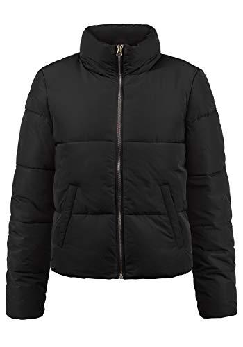 ONLY Padma Damen Steppjacke Übergangsjacke Jacke Mit Stehkragen, Größe:M, Farbe:Black