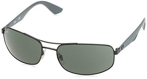 Ray-Ban Unisex Sonnenbrille RB3527, (Gestell: schwarz Glas: grau grün 006/71), X-Large (Herstellergröße: 61)
