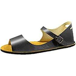 Romanas Sandalias de Verano Flip Flops Chanclas para Mujer Retro Zapato Sandalia Blandas Romano Mujeres Playa Estudiante 2019 Retro Buckle-Strap Sandals (40, Negro2)