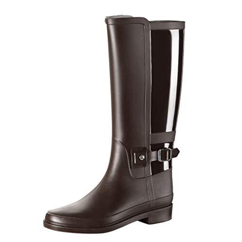 el Damen Mode Rain Schuhe Slip On Breathable Aquaschuhe Frauen Outdoor rutschfest Rain Boots Wassersportschuhe Halbhohe Gummistiefel Wasserdicht Schnell Trocknend Schuhe 36-41 ()