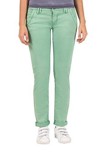 Timezone Damen NaliTZ Slim Jeans, Grün (Fresh Green 4058), W27